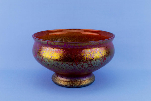 Royal Brierley Orange Glass Bowl
