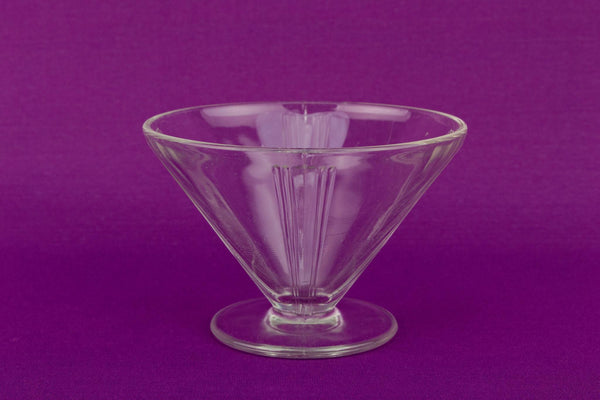 4 Art Deco Glass Bowls, English 1920s