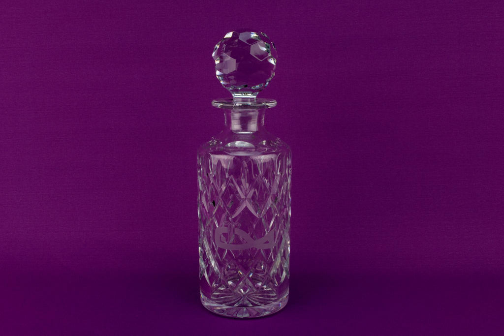Cut Glass Decanter by Royal Doulton