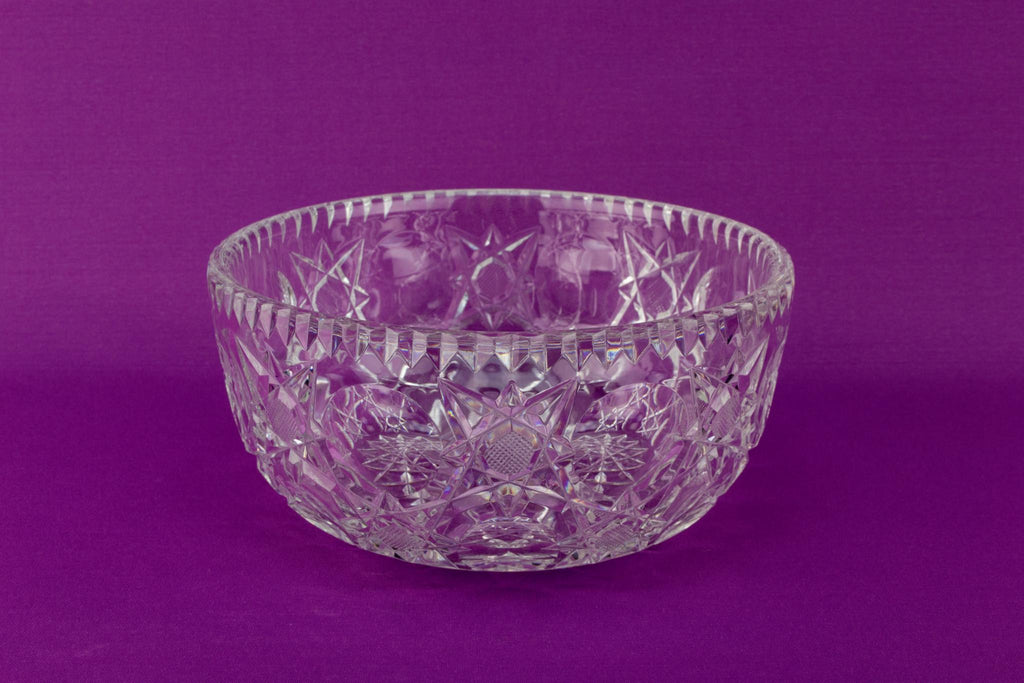 Cut Glass Serving Bowl by Royal Brierley