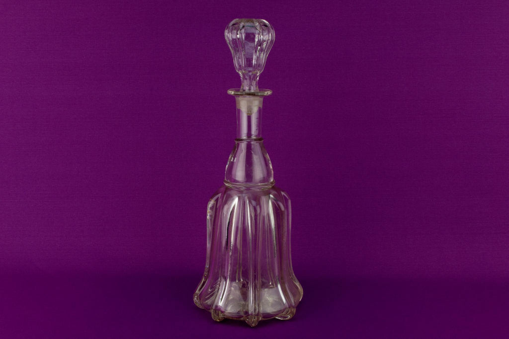 Newcastle Pillar Wine Decanter, English 19th Century