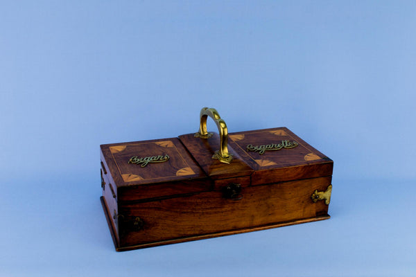 Burr Walnut Cigar Box, English Circa 1880