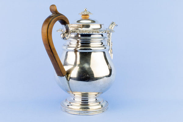 Large Silver Plated Teapot, English Circa 1820