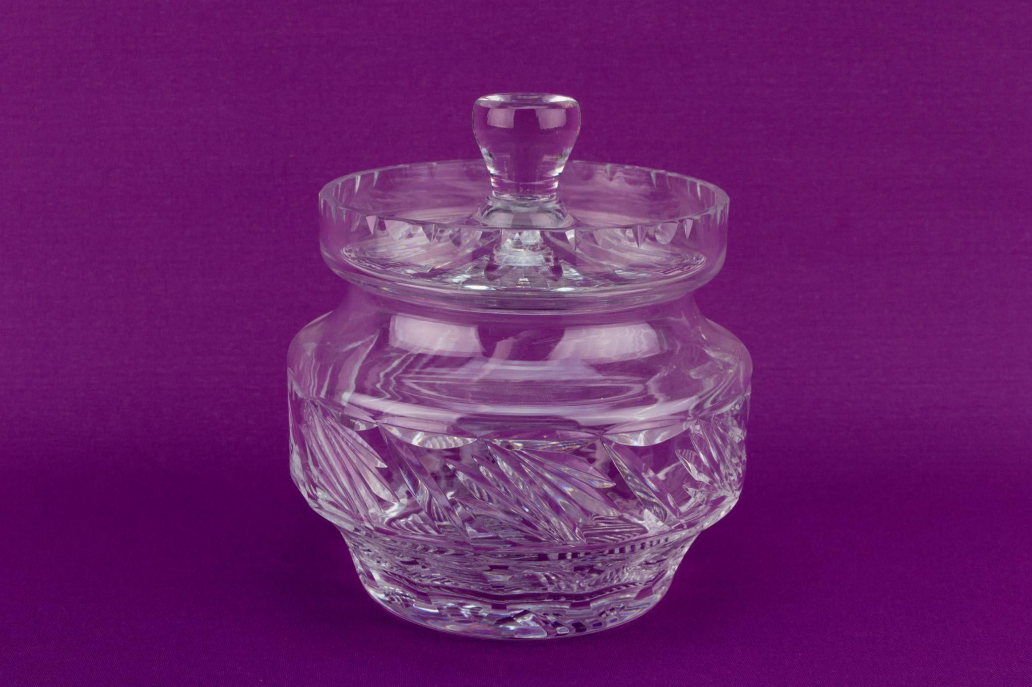 Cut Glass Ice Bucket with Lid