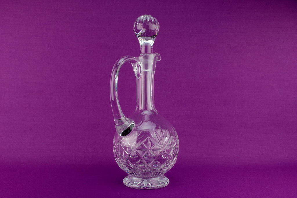 Tall Cut Glass Wine Decanter