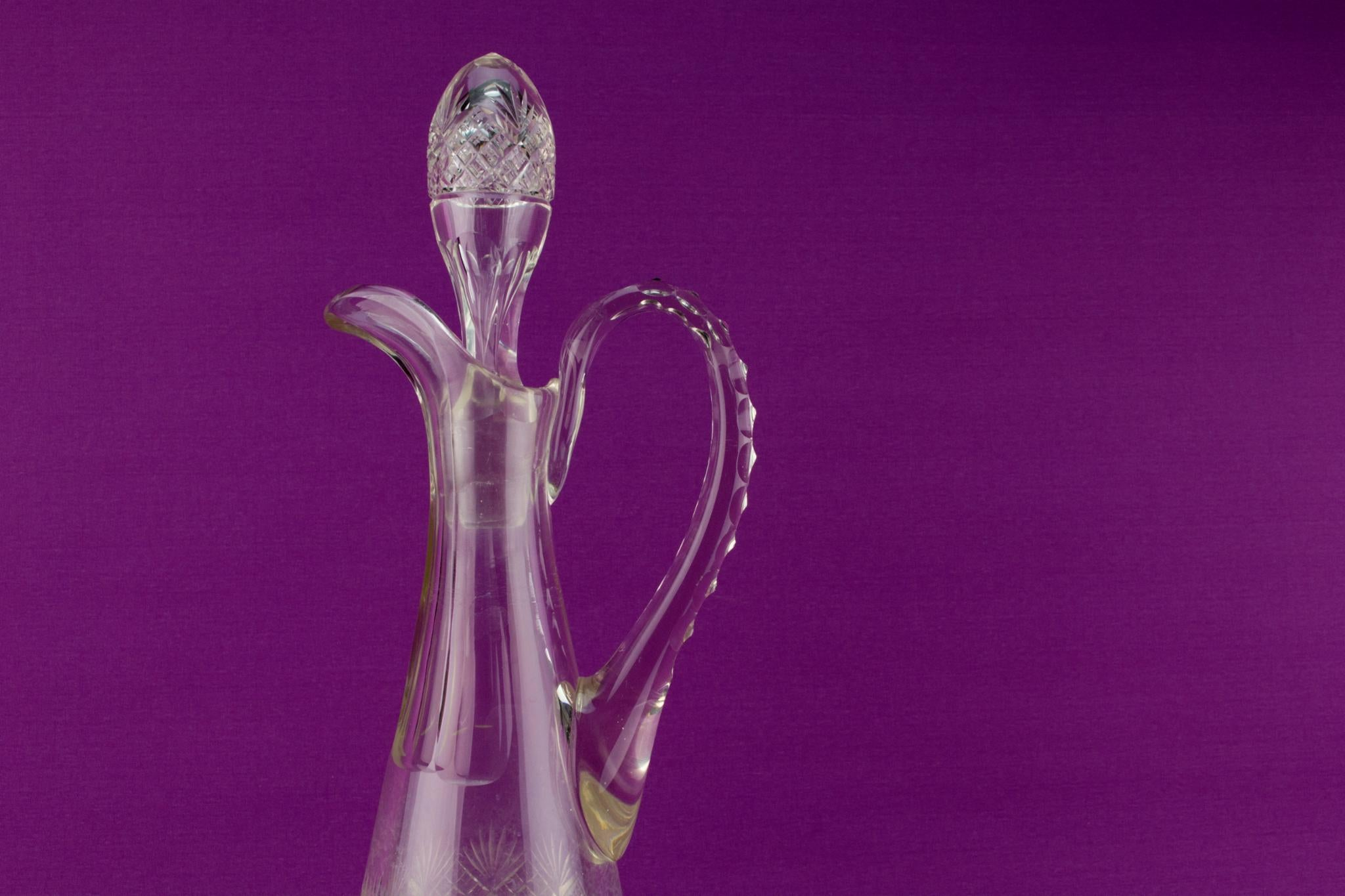 Two Cut Glass Wine Carafes, English Circa 1900