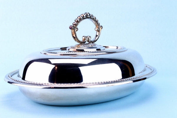 Silver Plated Serving Dish, English 1970s