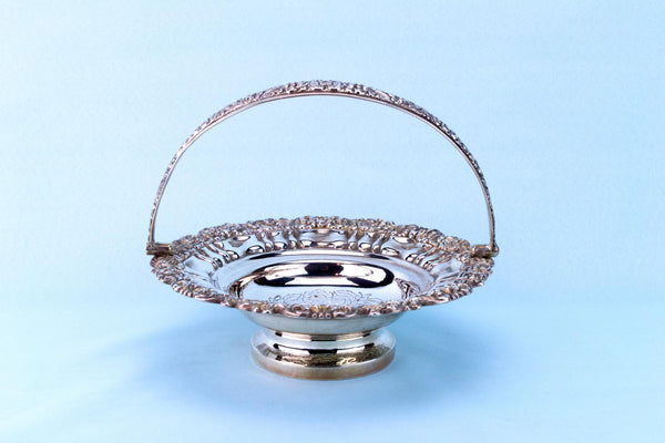Silver Plated Fruit Basket, English Mid 19th Century
