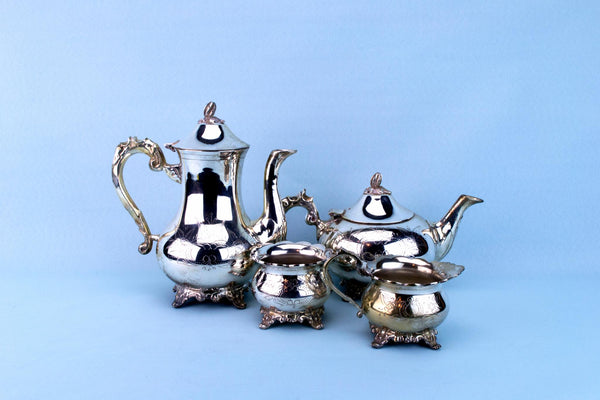 Silver Plated tea and Coffee Set, English 1960s