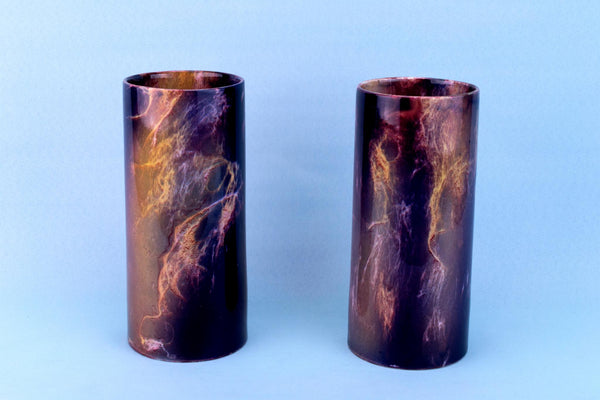 2 Oriflame Arts & Crafts Vases, English 1890s