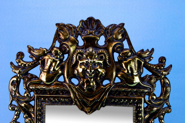 Brass Wall Mirror, English Early 1800s