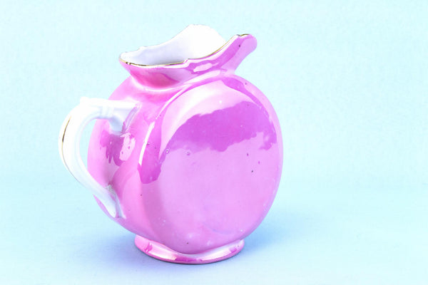 Pink Porcelain Milk Jug, German 1930s