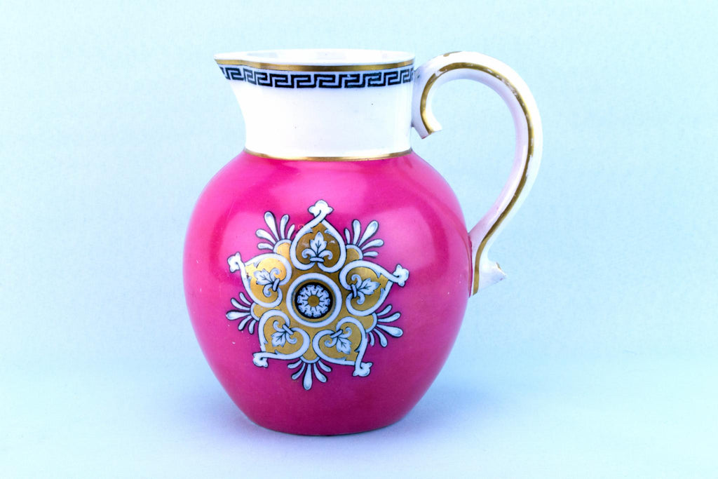 Pink Water Jug, English 1870s