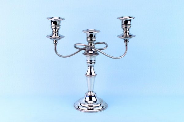 Silver Plated Candelabra, English Mid 20th Century