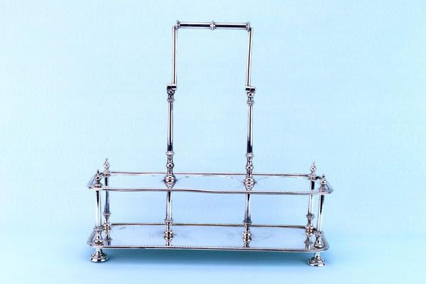 Silver Plated Arts & Crafts Wine Carrier, English 19th Century