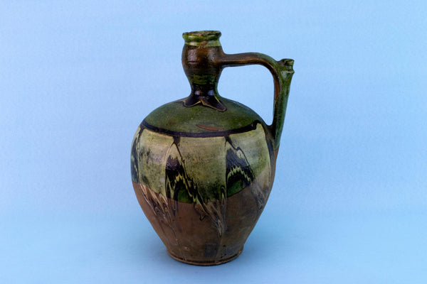 Marbled Glaze Pottery Jug