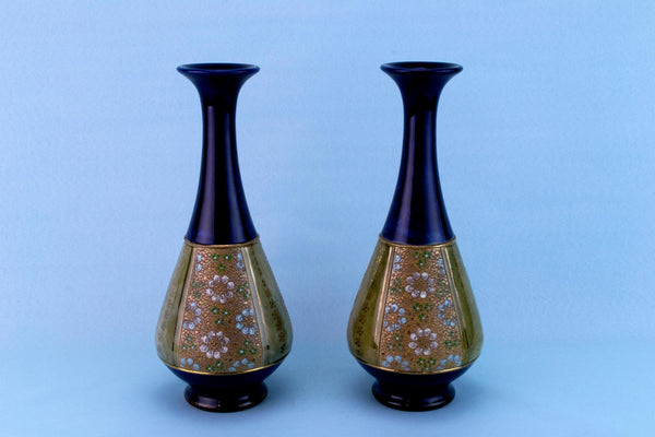 2 Royal Doulton Vases, English Early 1900s