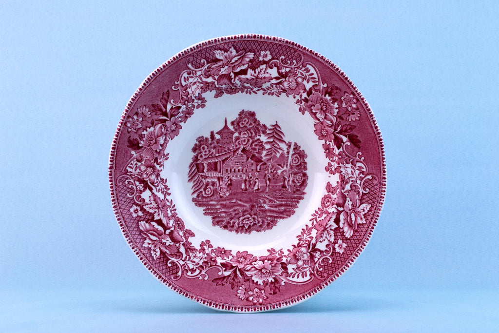 Avon Cottage Red Bowl by Enoch Wedgwood