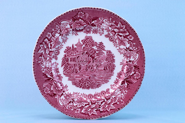 Avon Cottage Red Dinner Plate by Enoch Wedgwood