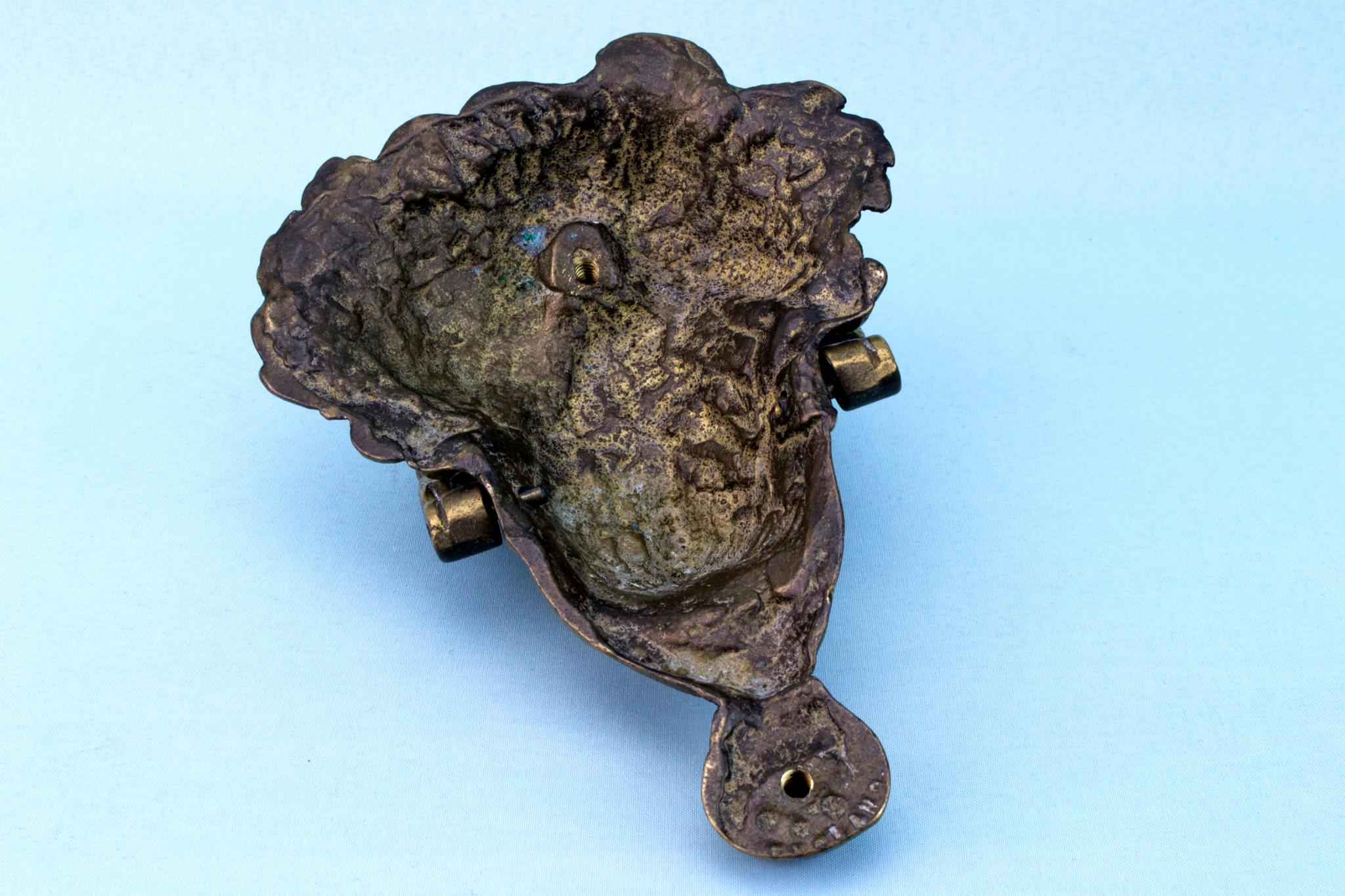 Heavy Bronze Door Knocker, French Circa 1900