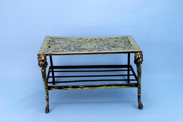 Fireplace Stand in Brass, French 19th Century