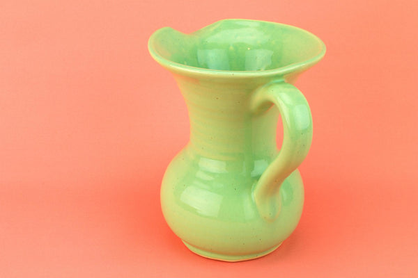 Small Jug in Green Art Deco Colour, English 1930s