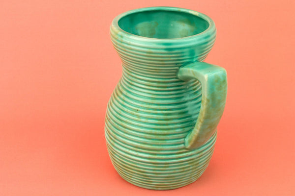 Green Jug Shaped Art Deco Vase, English 1930s