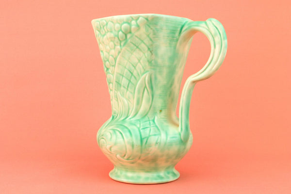 Pale Green Water Jug in Art Deco Design, English 1930s