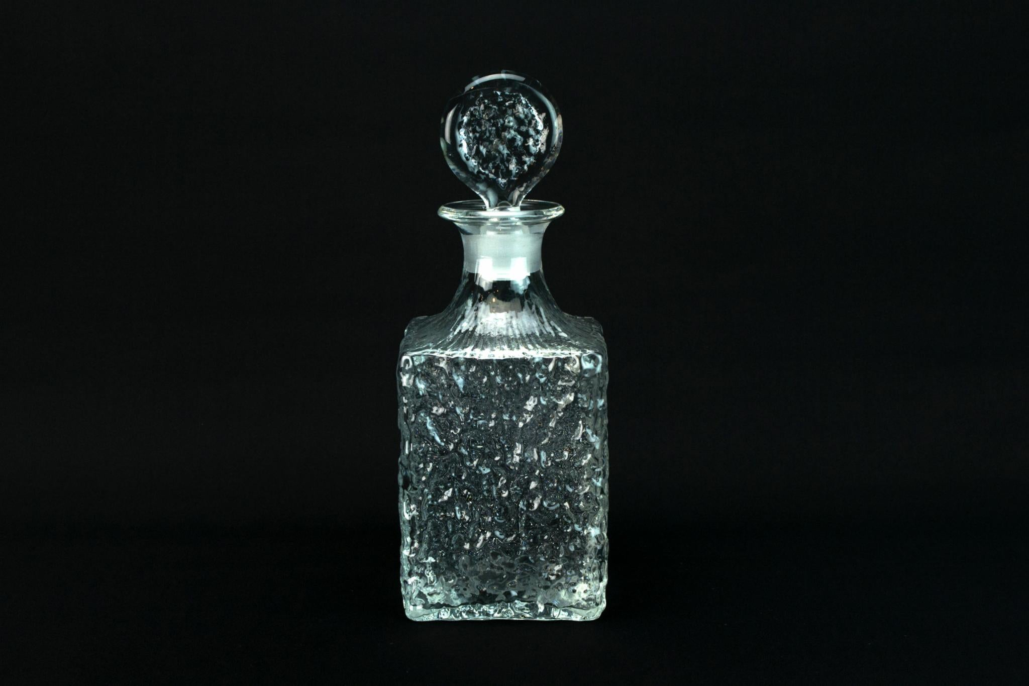 Square Whisky Decanter by Whitefriars, English 1970s