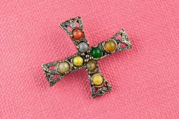 Cross Shaped Brooch