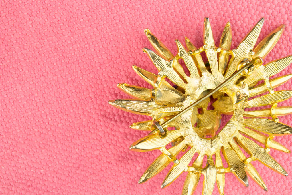 Brooch Start Burst by Exquisite, English 1950s