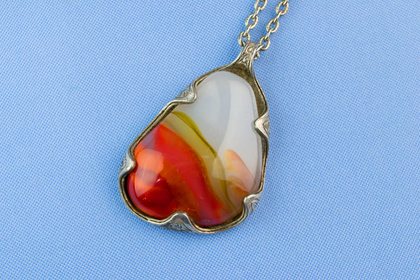 Scottish Style Agate Imitation Necklace by Miracle 1950s