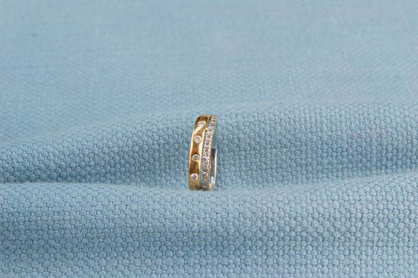 Ring in Two Tone 18ct Gold with Diamonds