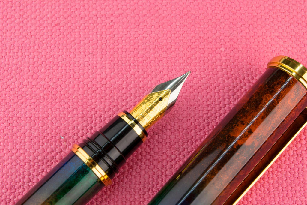 Marbled Red Fountain Pen by Osama