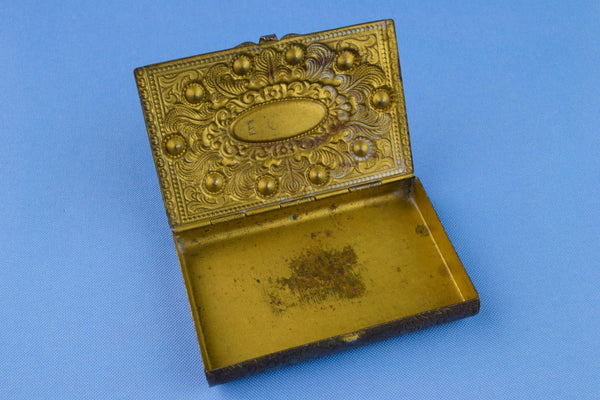 Small Gilded Card Box Early 1900s