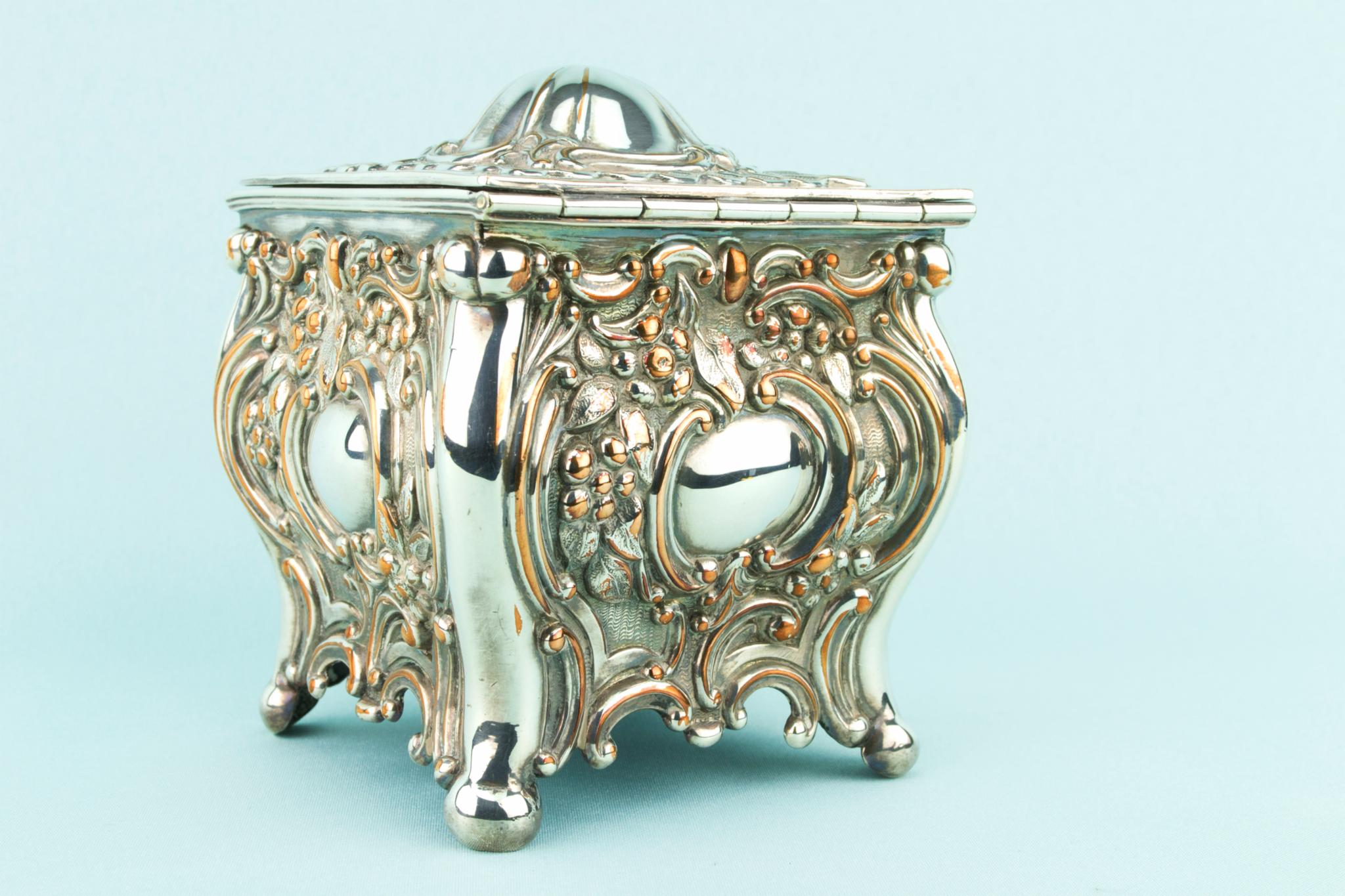 Silver Plated Tea Box, English Circa 1900