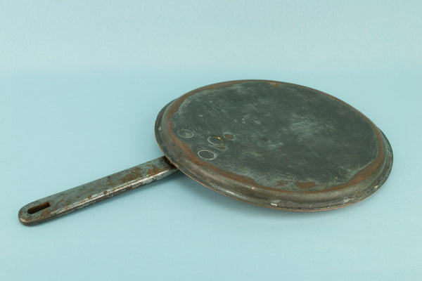 Copper & Iron Pan Lid, English Mid 19th Century