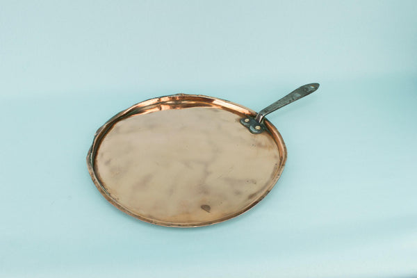 Medium Copper & Iron Pan Lid, English Mid 19th Century