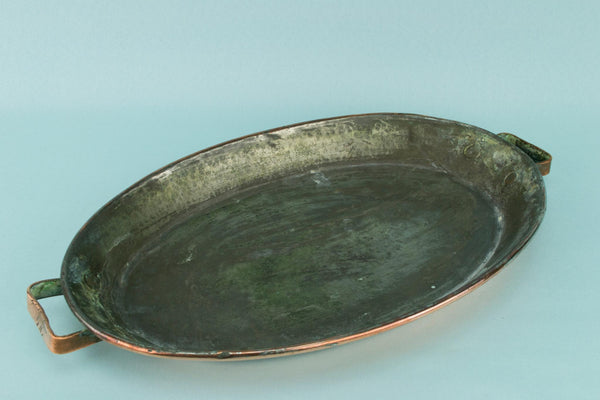 Copper Shallow Frying Pan, English 19th Century