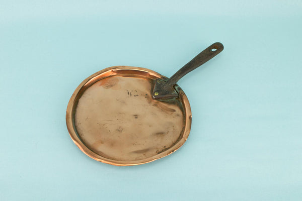 Small Copper & Iron Pan Lid, English 19th Century