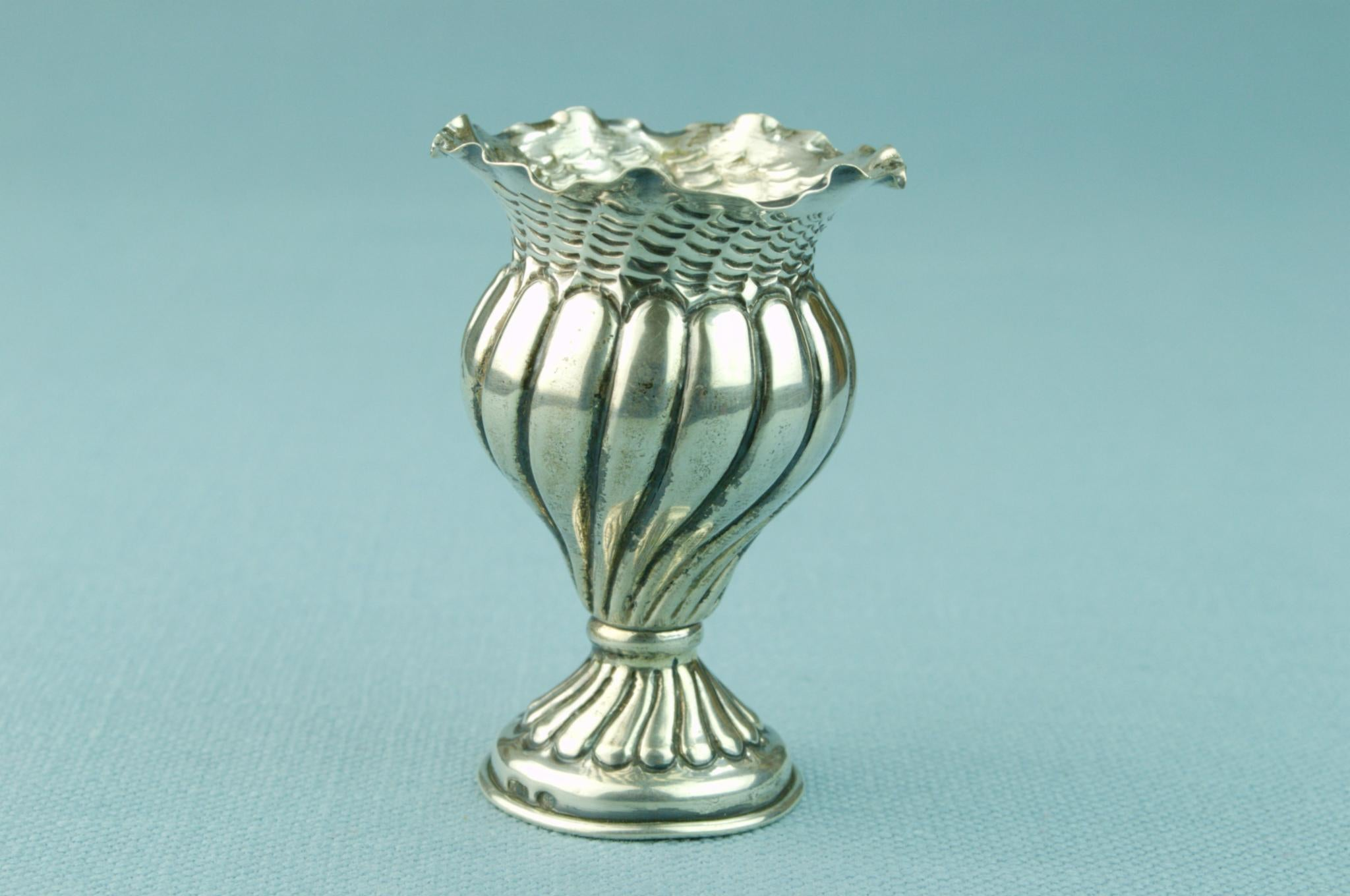 Small Silver Vase for a Single Bud