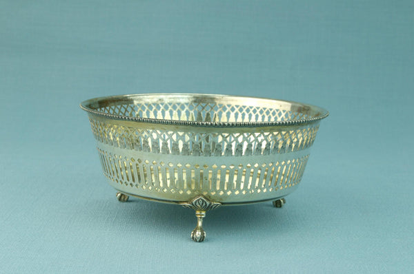 Silver Serving Bowl on Feet Early 1900s