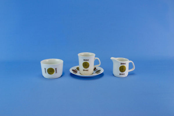 Coffee Set for 5 by Meakin, English Circa 1960