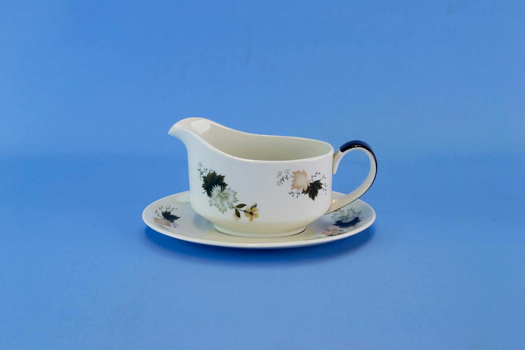 Gravy Boat on Plate by Royal Doulton, English Circa 1960