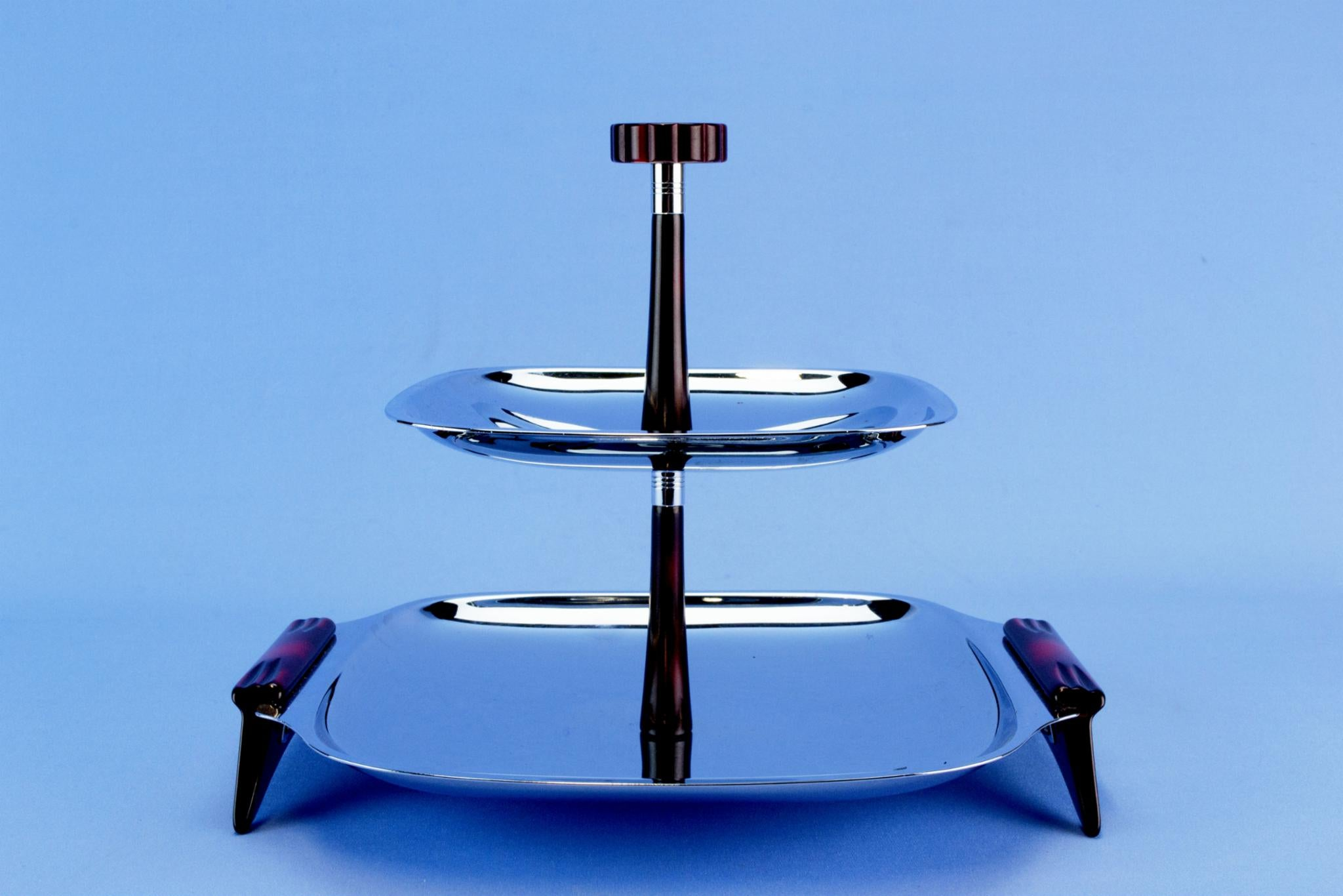 Cake Stand Two Tiers by Glo-Hill, Canadian 1950s