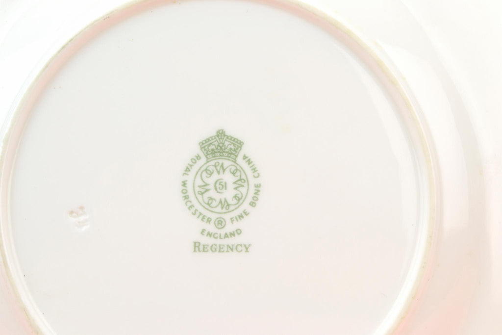 6 Medium Plates Regency by Royal Worcester, English 1970s