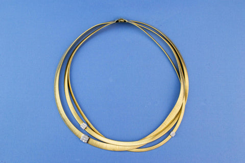 Marco Bicego Masai choker necklace in 18ct gold