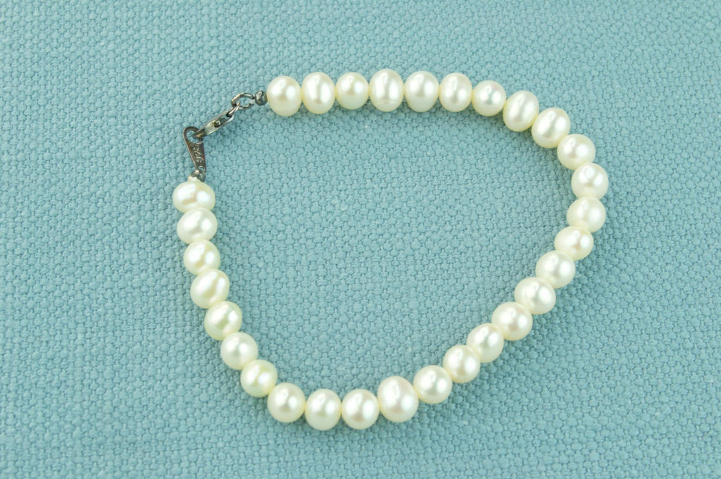 Pearls and Silver Bracelet