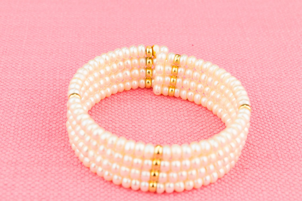18ct Gold and Pearl Bracelet