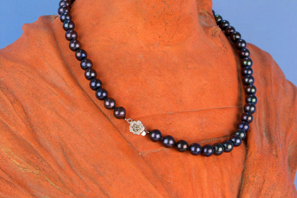Black Fresh Water Pearls Necklace